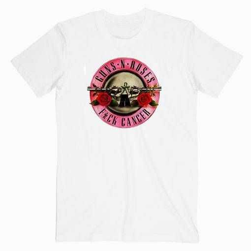 Guns N Roses Fuck Cancer Music tee shirt
