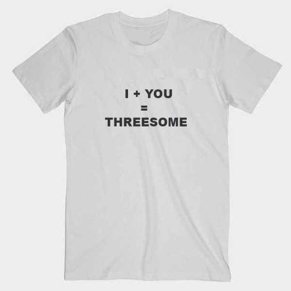 I+YOU=THREESOME tee shirt