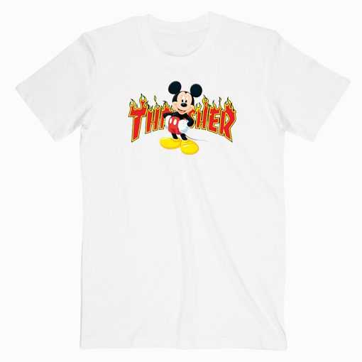 Mickey Mouse X Thrasher Parody tee shirt