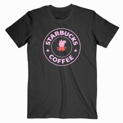 Peppa Pig X Starbucks Parody tee shirt