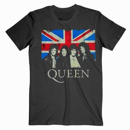 Queen England Flag Music tee shirt
