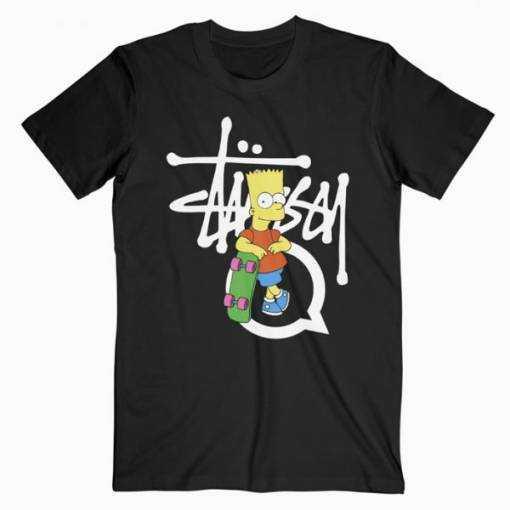 Stussy Bart Simpson tee shirt