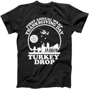 Thanksgiving WKRP Turkey Drop tee shirt