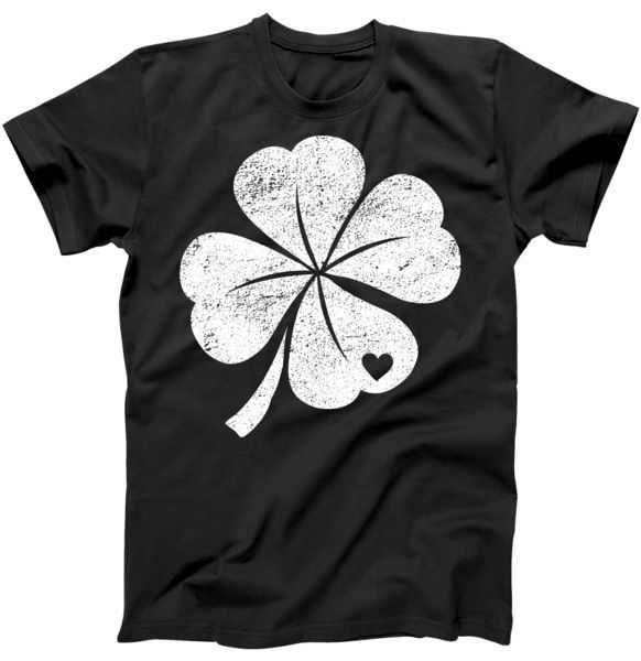 Vintage Irish Clover Heart tee shirt