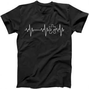 Autism Heartbeat Pulse Puzzle tee shirt