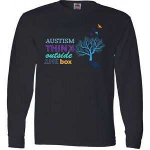 Autism Think Outside The Box Long Sleeve tee shirt