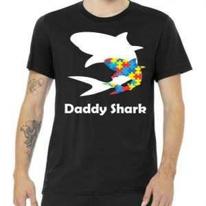 Daddy Shark Puzzles Autism Awareness tee shirt