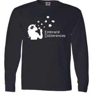 Embrace Differences Long Sleeve tee shirt