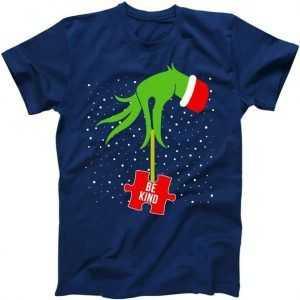 Grinch Autism Puzzle Piece Santa tee shirt