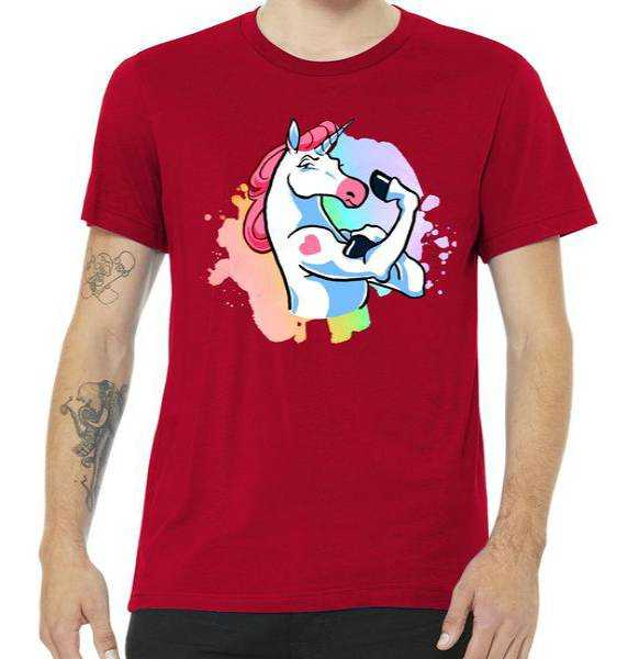 Muscle Unicorn tee shirt