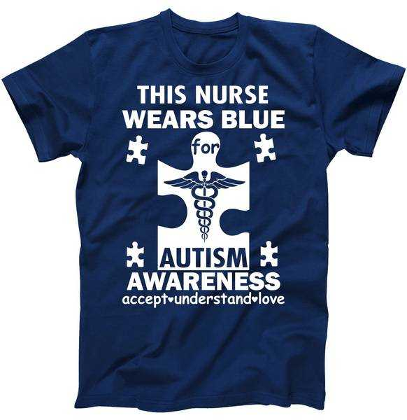 This Nurse Wears Blue For Autism Awareness tee shirt