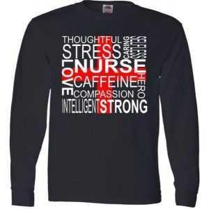 Inspiring Nurse Long Sleeve tee shirt
