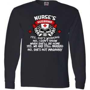 Nurse's Husband Long Sleeve tee shirt