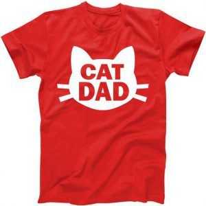 Cat Dad tee shirt