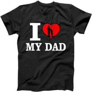 I Love My Dad Heart tee shirt