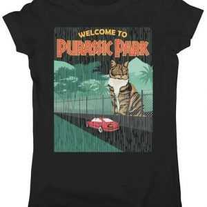 Welcome To Purassic Park Junior Fit tee shirt