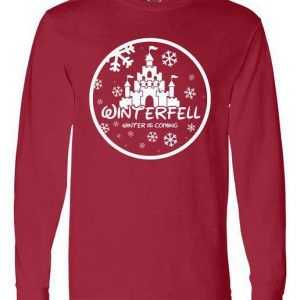 Winterfell Parody Logo Winter Is Coming Long Sleeve tee shirt