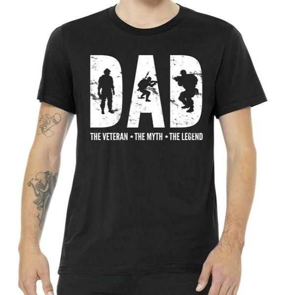 Dad The Veteran The Myth The Legend tee shirt