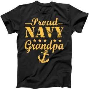 Proud Navy Grandpa tee shirt