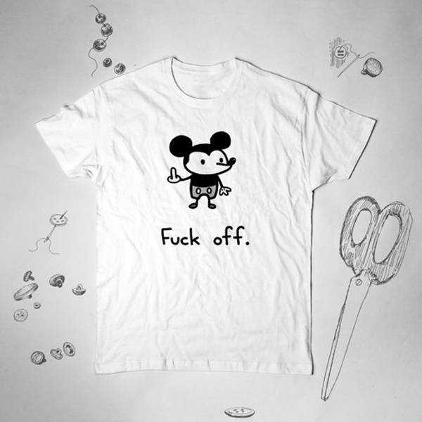 Fuck Off Disney Mickey Mouse tee shirt
