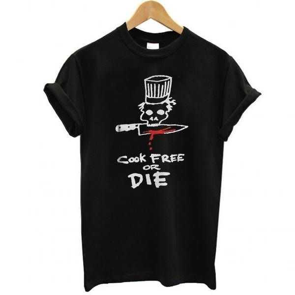 Chef cook free or die tee shirt