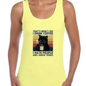 Black-Cat-Thats-What-I-Do-I-Drink-Coffee-Yellow-Tank-Top