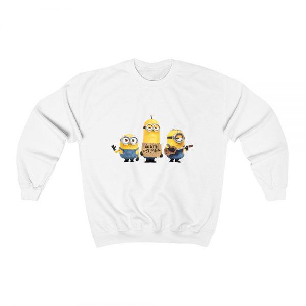 Despicable Me Minion I'm With Stupid Sweatshirt