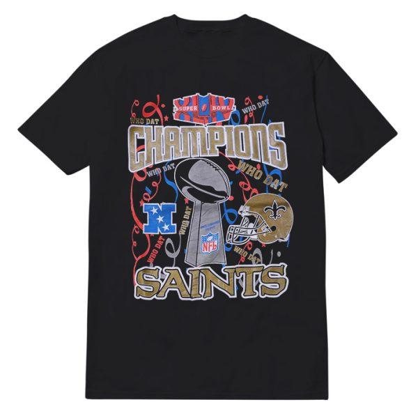 "Saint Orleans ""Who Dat Champions'' T-Shirt"