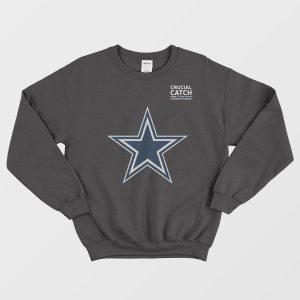 Dallas Cowboys Crucial Catch Intercept Cancer Sweatshirt