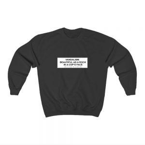 Kurt Cobain Vandalism Sweatshirt Unisex